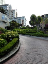 Looking UP Lombard St San Francisco
