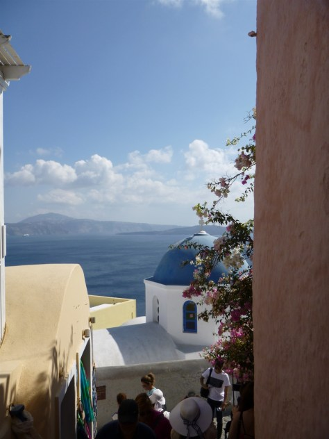 View from Oia streets