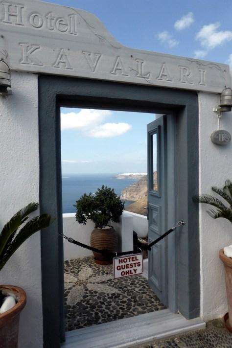 Santorini Hotel Entrance