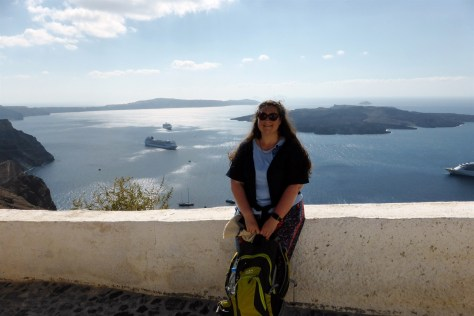 Smiling at last in Santorini