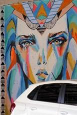 Egyptian looking car park goddess