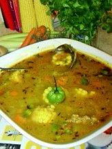VEGETABLE SOUP WITH CHICKEN BACK PARTS