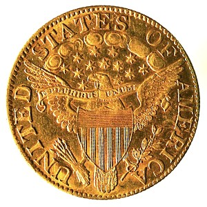 United States Gold Half Eagle $5 coin. 1803. Reverse.
