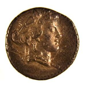 Roman Republic, minter C. Cassius, silver denarius, 126 BCE.