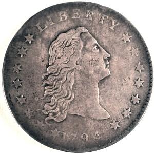 United States Silver Dollar. 1794.