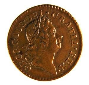Hibernia, Copper Farthing, 1723. Obverse.