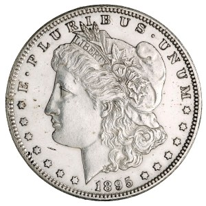 USA. Silver dollar. Obverse. San Francisco (Calif.), 1895