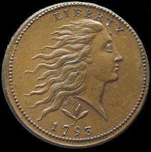 USA. copper cent Philadelphia- 1793. Obverse.