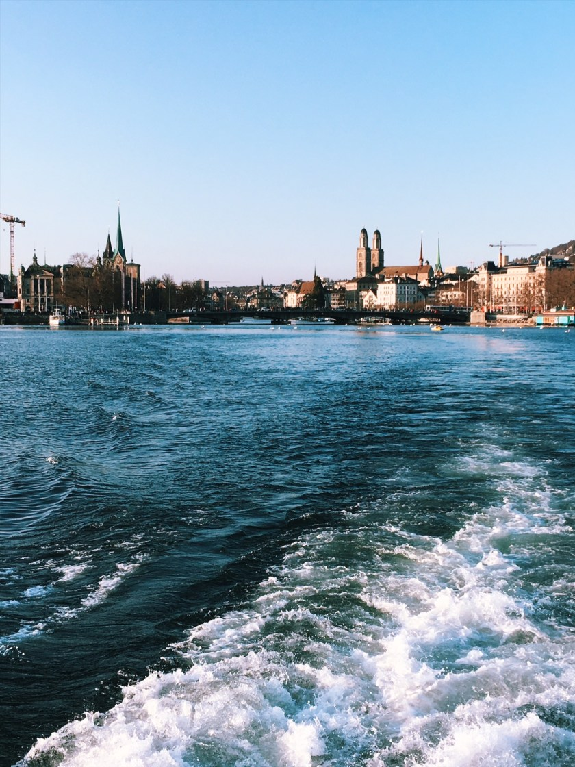 View from Zurich from the ferry