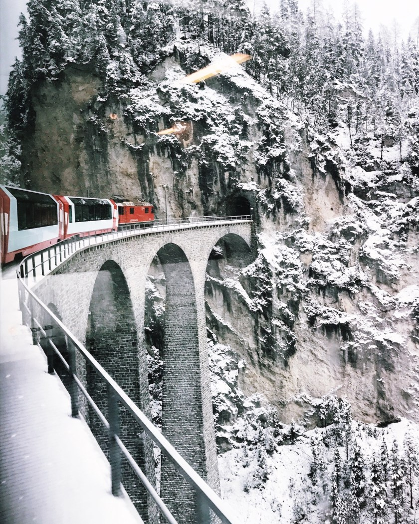 Landwasser Viaduct view from Glacier Express