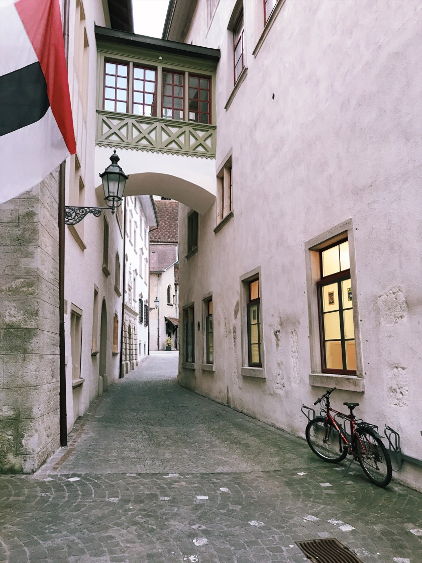 Street of Baden old town