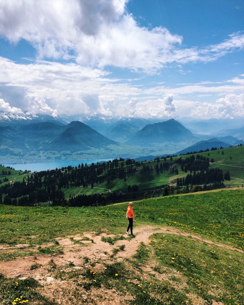 Hiking on Mt. Rigi