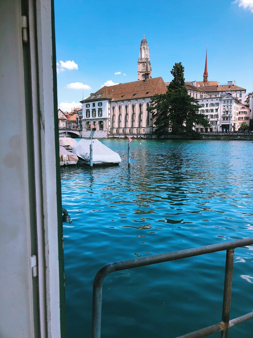 Limmat views from the Frauenbad in Zurich