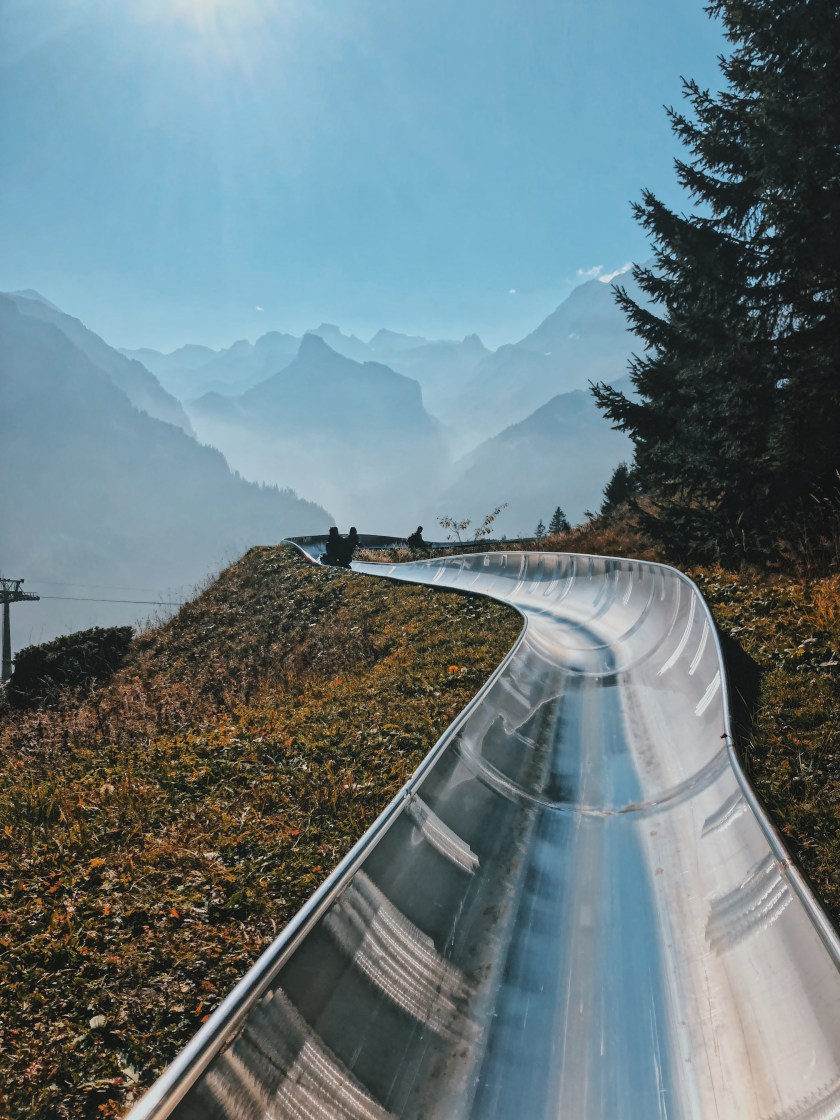 Toboggan, Alpine Slide at Oeschinensee, Switzerland