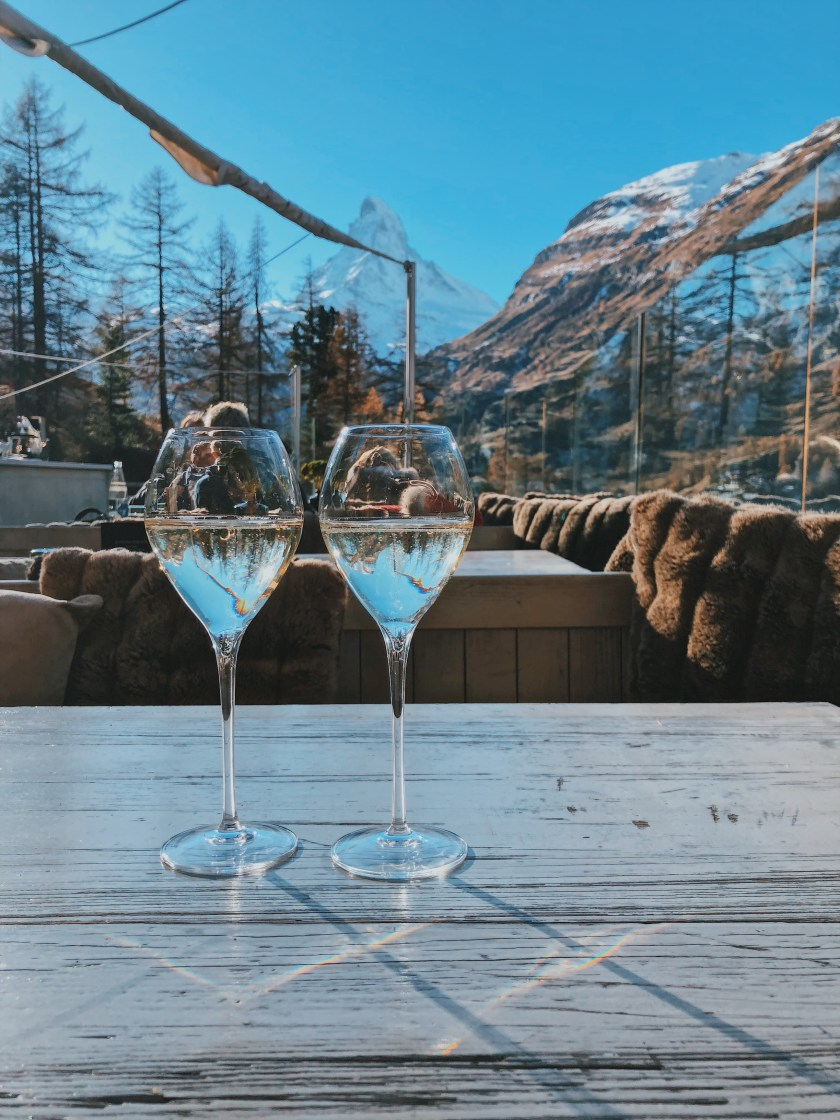 Champagne with a view at Cervo Zermatt