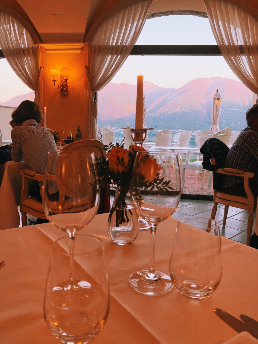 Sunset Villa Orselina restaurant Locarno Switzerland