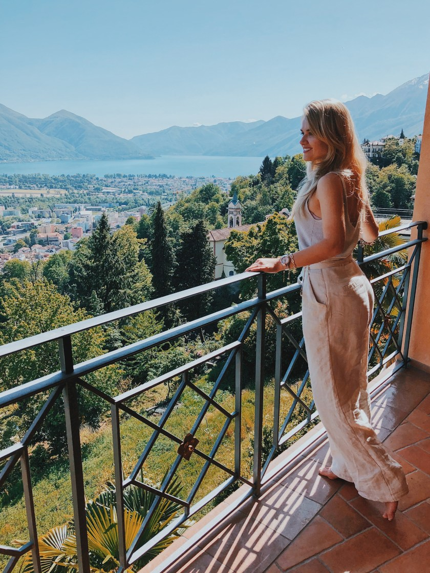 Panorama Suite views at Villa Orselina in Locarno Switzerland