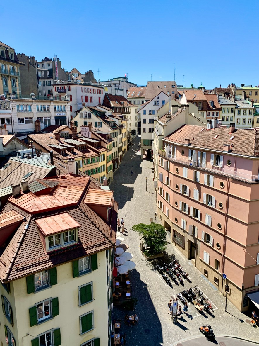 Old town charm in Lausanne, Switzerland