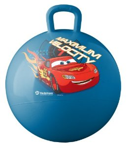 Image of a hippity hop ball in blue with cars image