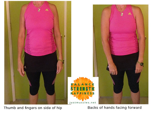 Image showing where your hands should be for correct shoulder posture