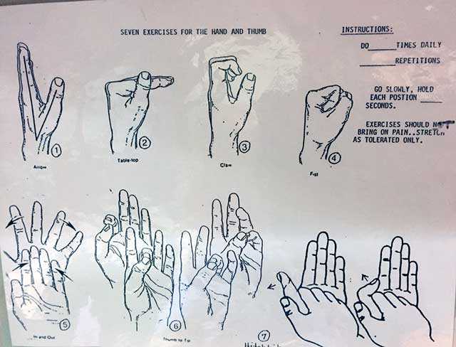 image of hand exercise illustration