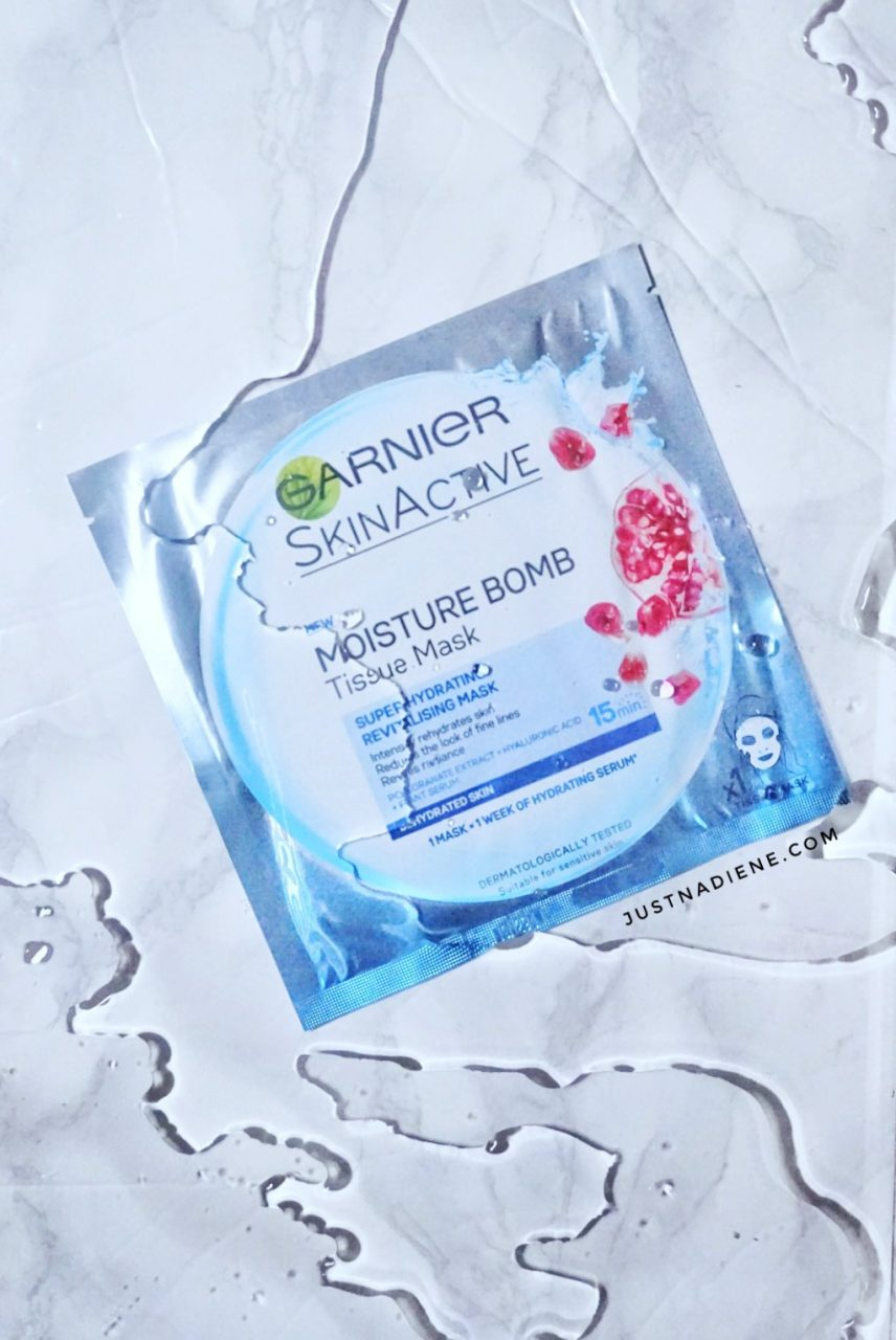 Garnier Moisture Bomb Pomegranate Tissue Mask Review