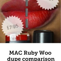 MAC Ruby Woo dupe comparison with 3ina