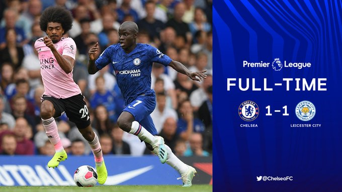 Chelsea vs Leicester City 1-1 Highlights & Goals
