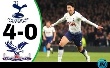 Tottenham vs Crystal Palace 4-0 - All Goals & Highlights