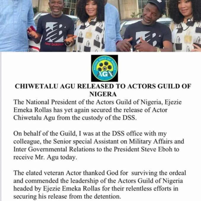 AGN Secures Chiwetalu Agu's Release From DSS Custody