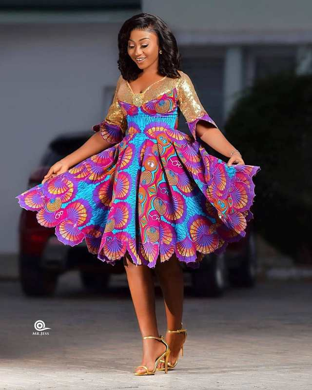 Ankara Short Gown Styles And Designs
