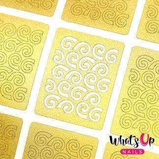 Swirls Pattern Stencils