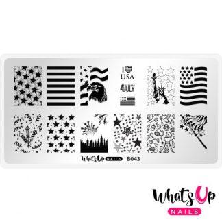 B043 Stars and Stripes - stampingplade USA