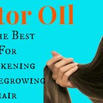 Castor oil is great for thickening and regrowing hair, eyelashes and eyebrows