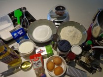 Getting ready to start baking!