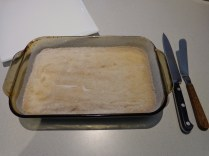 Cooked shortbread w/ sugar topping