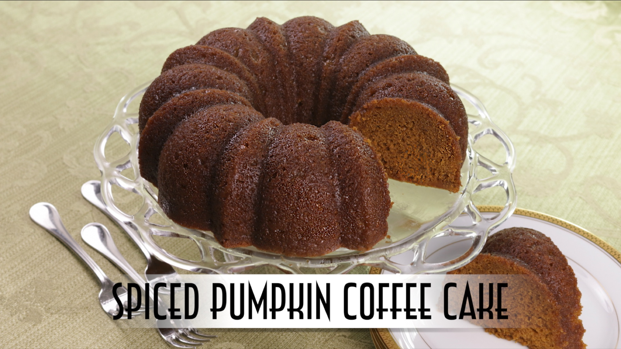 Spiced Pumpkin Coffee Cake With Rum Butter Glaze Just