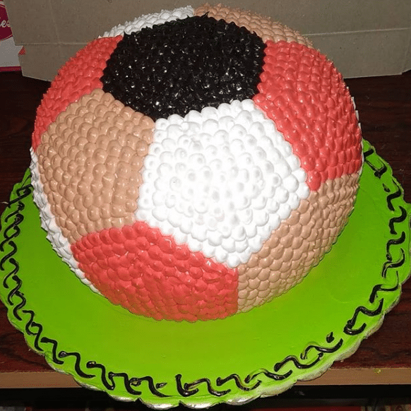 Football Design ButterScotch Cake