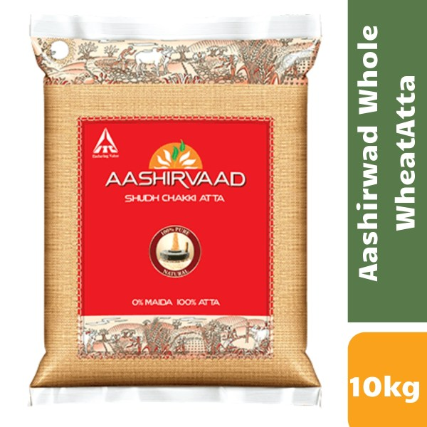 Aashirvaad Atta Whole Wheat (10 kg Bag)