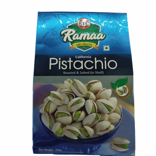 Ramaa Roasted & Salted California Pistachio (in Shell) 250 Grams