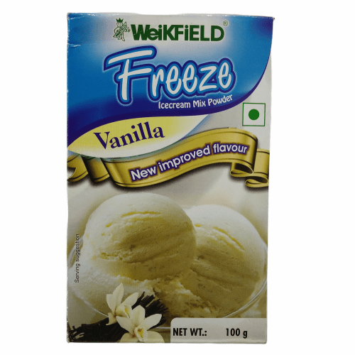 Weikfield Freeze Icecream Mix Powder - Vanilla, 100 gm Carton