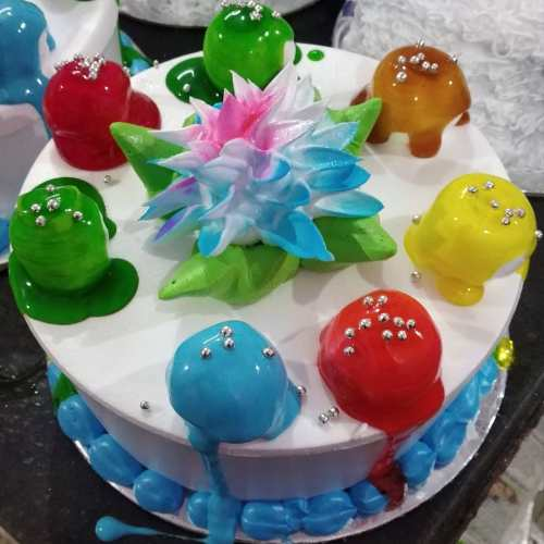 Colourful Cake With Different Flavor and Weight