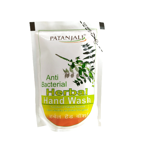 Patanjali Herbal Anti Bacterial Hand Wash (Refill Pack) 200ml