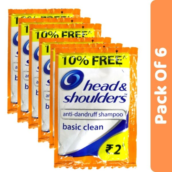 Head & Shoulders Basic Clean Shampoo Sachet 5.5ml (Pack Of 6)