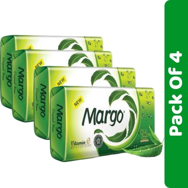 Margo Original Neem Soap Bar- 75g Pack of 4 Pcs