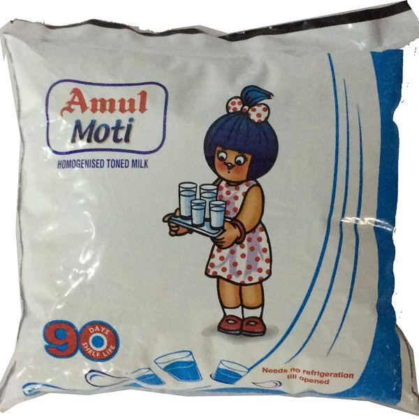 Amul Moti Homogenised Toned Milk, 500ml