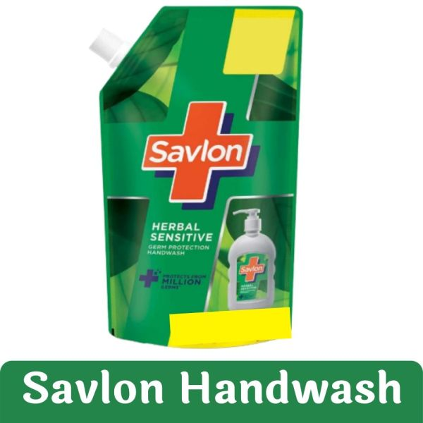 Savlon Herbal Sensitive Liquid Handwash Refill Pouch, 175ML