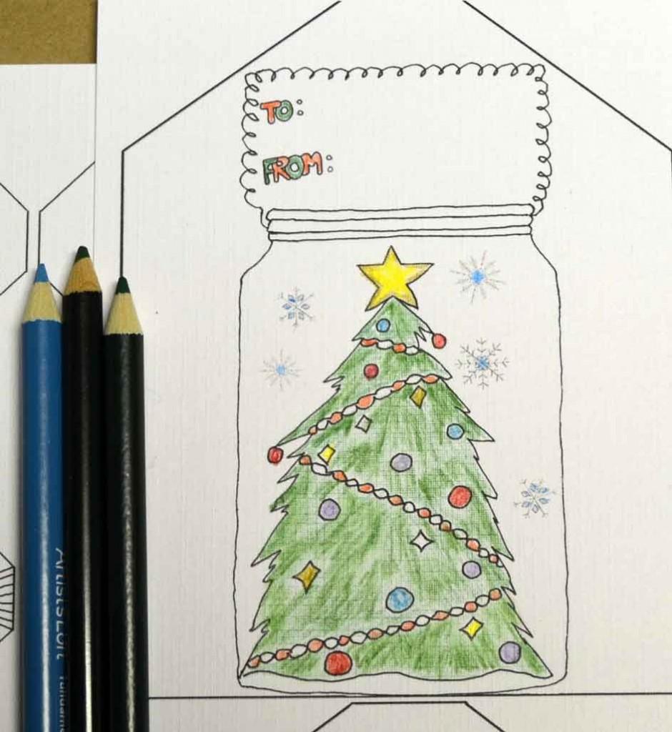 coloring-Christmas-tags
