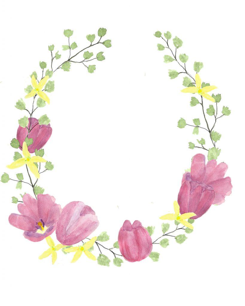 Spring Watercolor Flowers