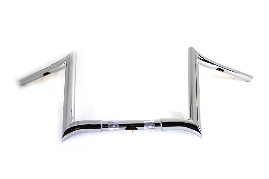 12 Chrome Z-Bar Handlebar with Indents